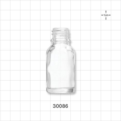 Glass Bottle, Clear - 30086