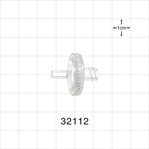 Transducer Protector, Hydrophobic, Male Luer Slip Inlet, Female Luer Lock Outlet - 32112