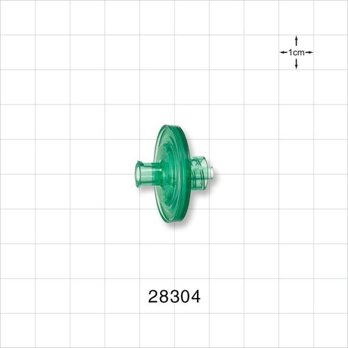 Hydrophilic Filter, Female Luer Lock Inlet, Male Luer Lock Outlet, Green - 28304