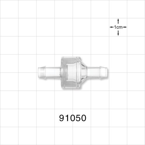 High Flow Check Valve, Barbed - 91050