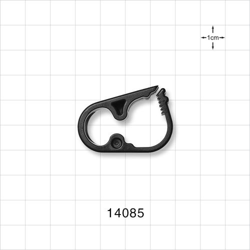 Ratchet Style Pinch Clamp, Black - 14085