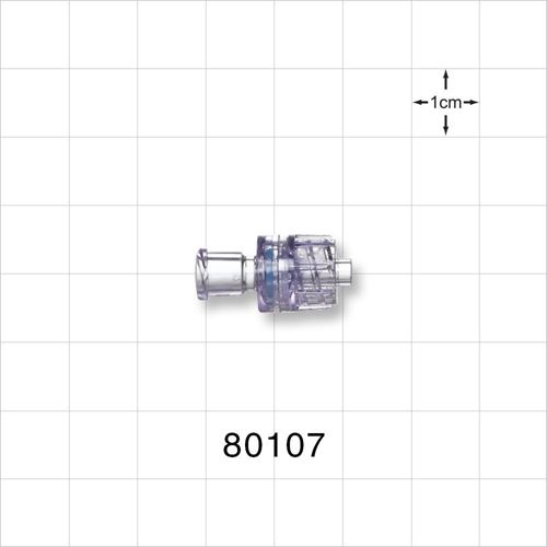 Check Valve, Female Luer Lock Inlet, Male Luer Lock Outlet - 80107
