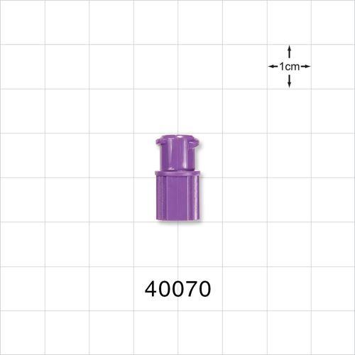 Female ENFit® Connector, Purple - 40070