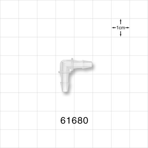 Elbow Connector, Barbed, Natural - 61680
