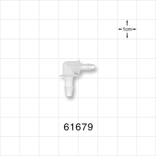 Elbow Connector, Barbed, Natural - 61679