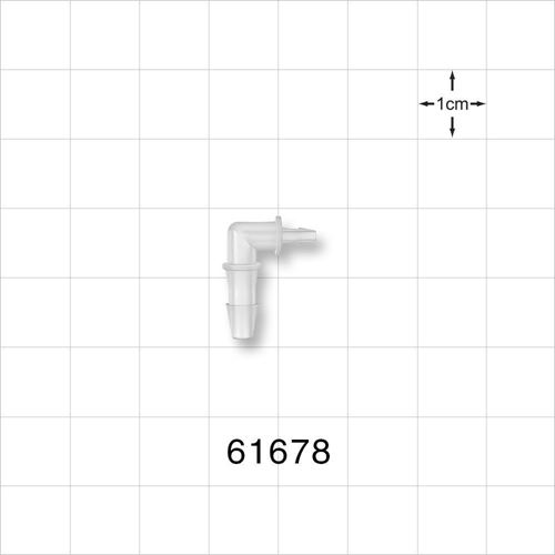 Elbow Connector, Barbed, Natural - 61678