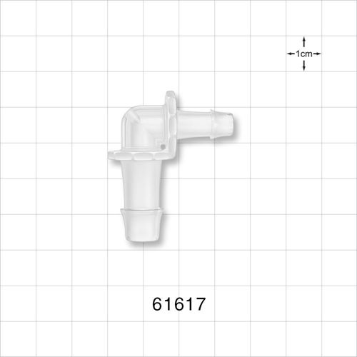 Elbow Connector, Barbed, Natural - 61617