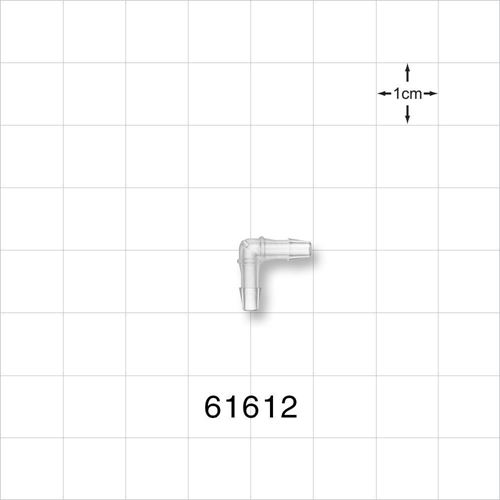 Elbow Connector, Barbed, Natural - 61612