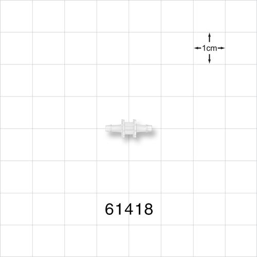 Straight Connector, Barbed, Natural - 61418