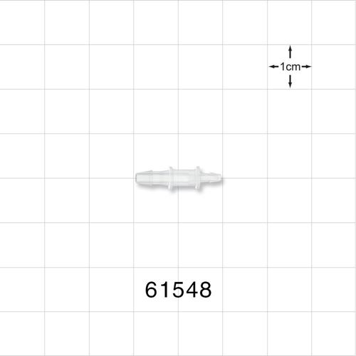 Straight Reducer Connector, Barbed, Natural - 61548