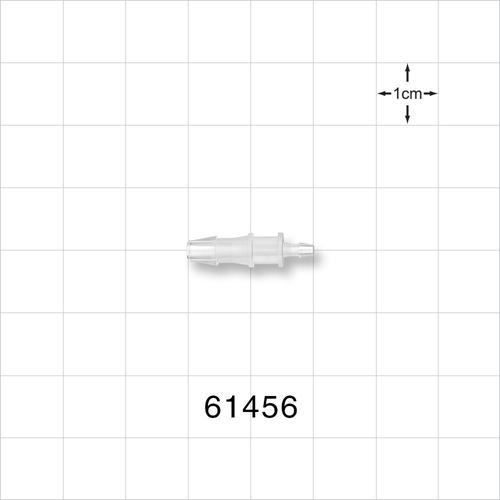 Straight Reducer Connector, Barbed, Natural - 61456