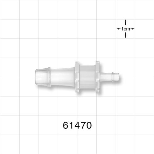 Straight Reducer Connector, Barbed, Natural - 61470