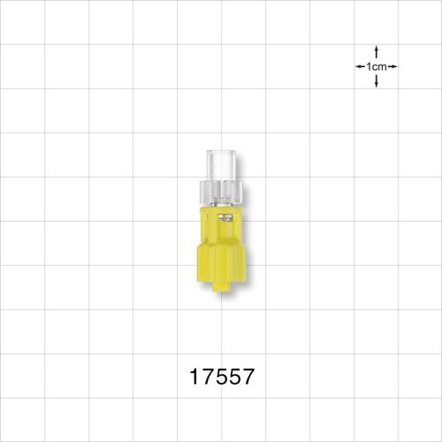 Rotating Male Luer Lock Connector, Yellow  - 17557