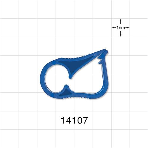 Ratchet Style Pinch Clamp, Blue - 14107