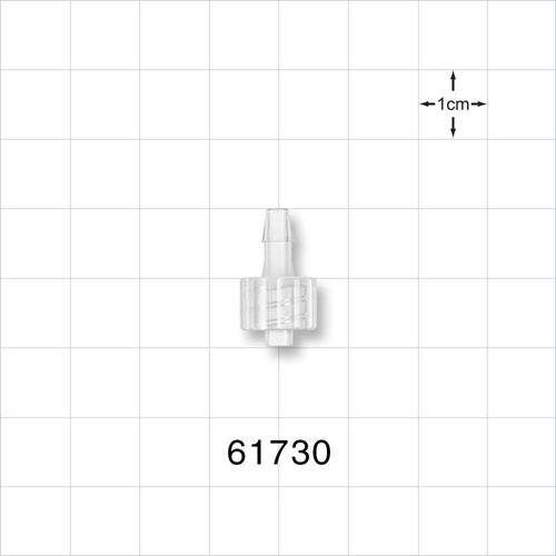Male Luer Lock to Barb Connector, Natural - 61730