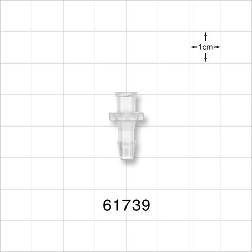 Female Luer Lock to Barb Connector, Natural - 61739