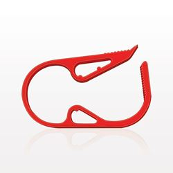 Ratchet Style Pinch Clamp, Red - 14108