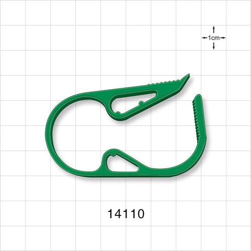 Ratchet Style Pinch Clamp, Green - 14110