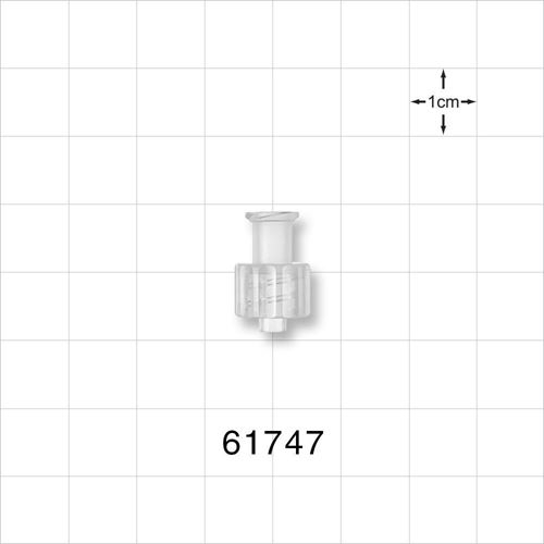 Female Luer Lock to Male Luer Lock Connector, Natural - 61747