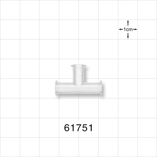 T Connector, All Ports Female Luer Locks, Natural - 61751