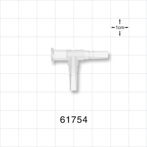 T Connector, Female Luer Lock and 2 Male Luer Slips, Natural - 61754