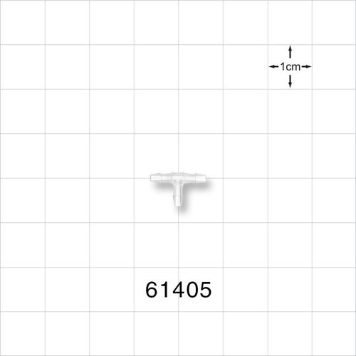 T Connector, Barbed, Natural - 61405