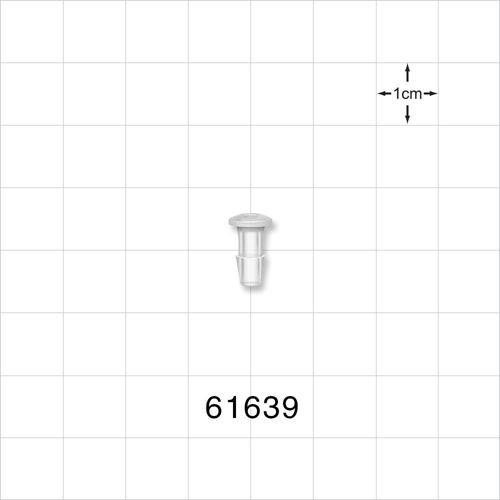 Press-In Plug, Barbed, Natural - 61639