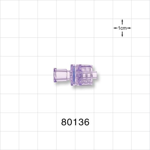 Check Valve, Female Luer Lock Inlet, Male Luer Lock Outlet - 80136