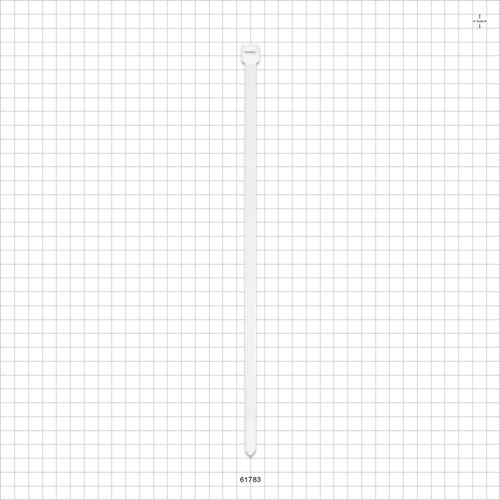 Specialty Cable Tie, White, 50/Bag - 61783